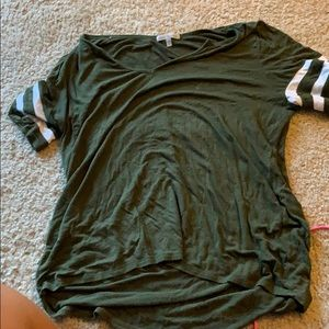 Olive green jersey shirt Charlotte Russe